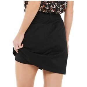 EUC Croft & Barrow Classic Fit Black Skirt Short